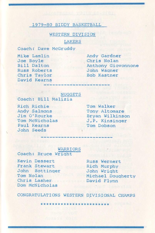 79 - 80 biddy basket ball western div