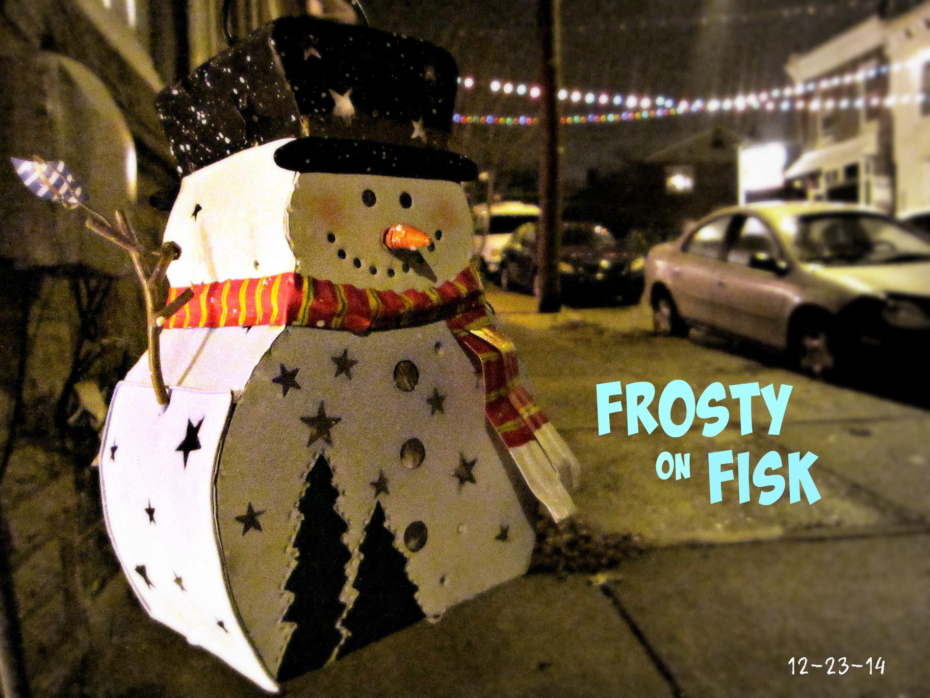 East Falls Local fisk snowman text
