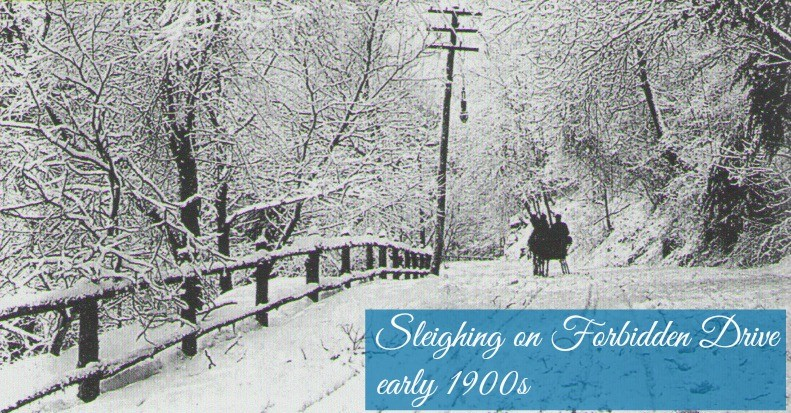 East Falls Local.sleigh ride on Forbidden drive 1900s4