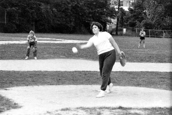 Softball lady