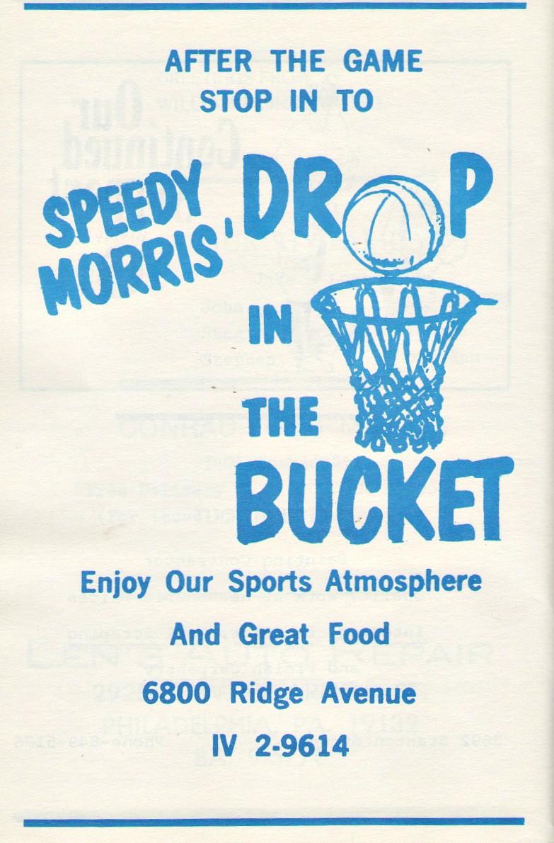 Speedy Morris drop in the bucket