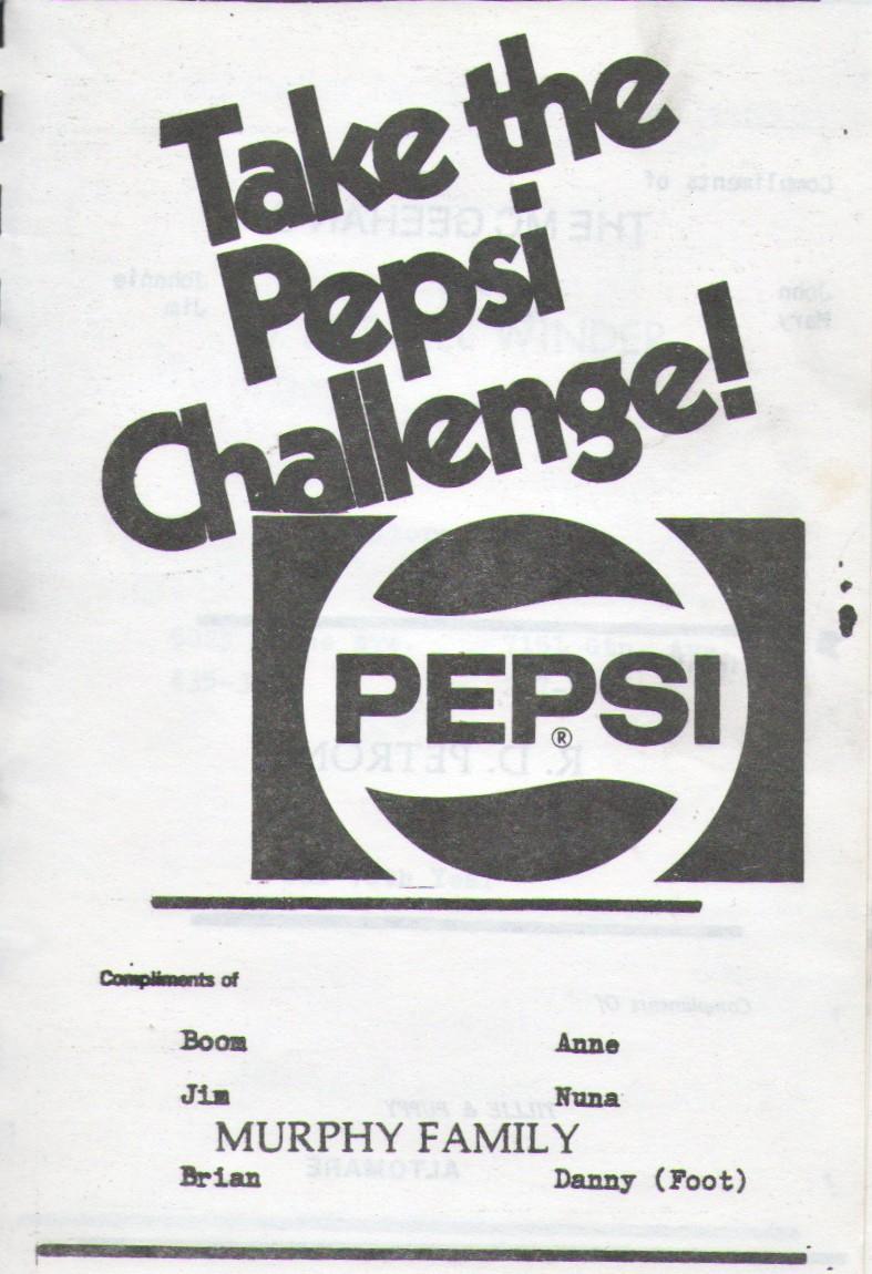 murphy pepsi challenge