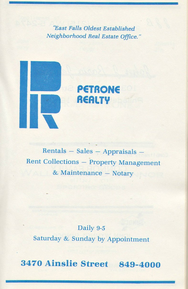 very 80s petrone realty logo