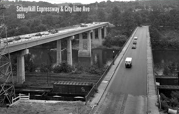 EastFallsLocal schuylkill expressway city line 1955 another view
