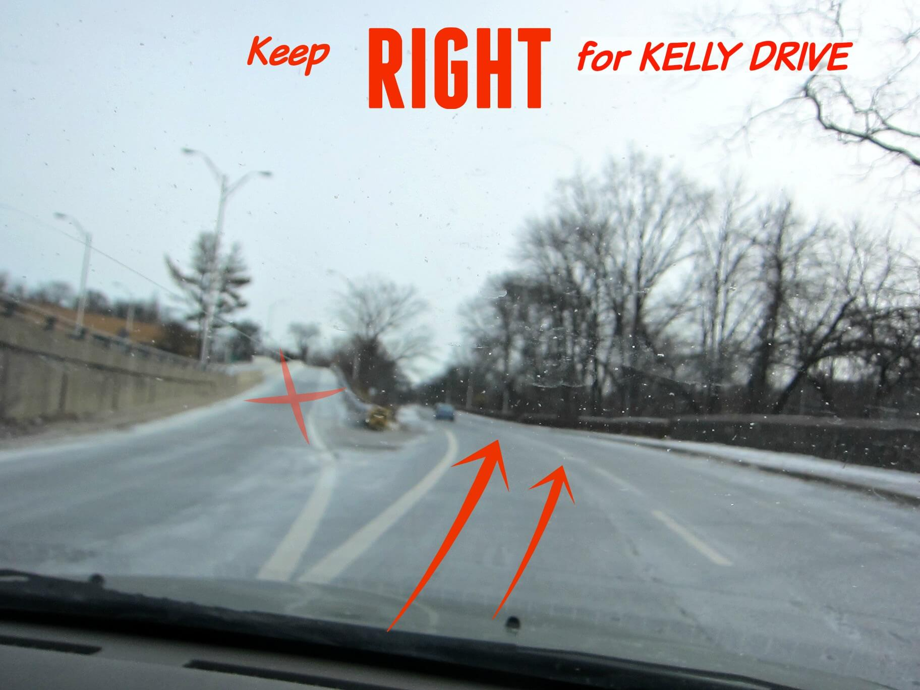 East Falls Local Lincoln Drive Closed -- Keep right to Kelly Drive