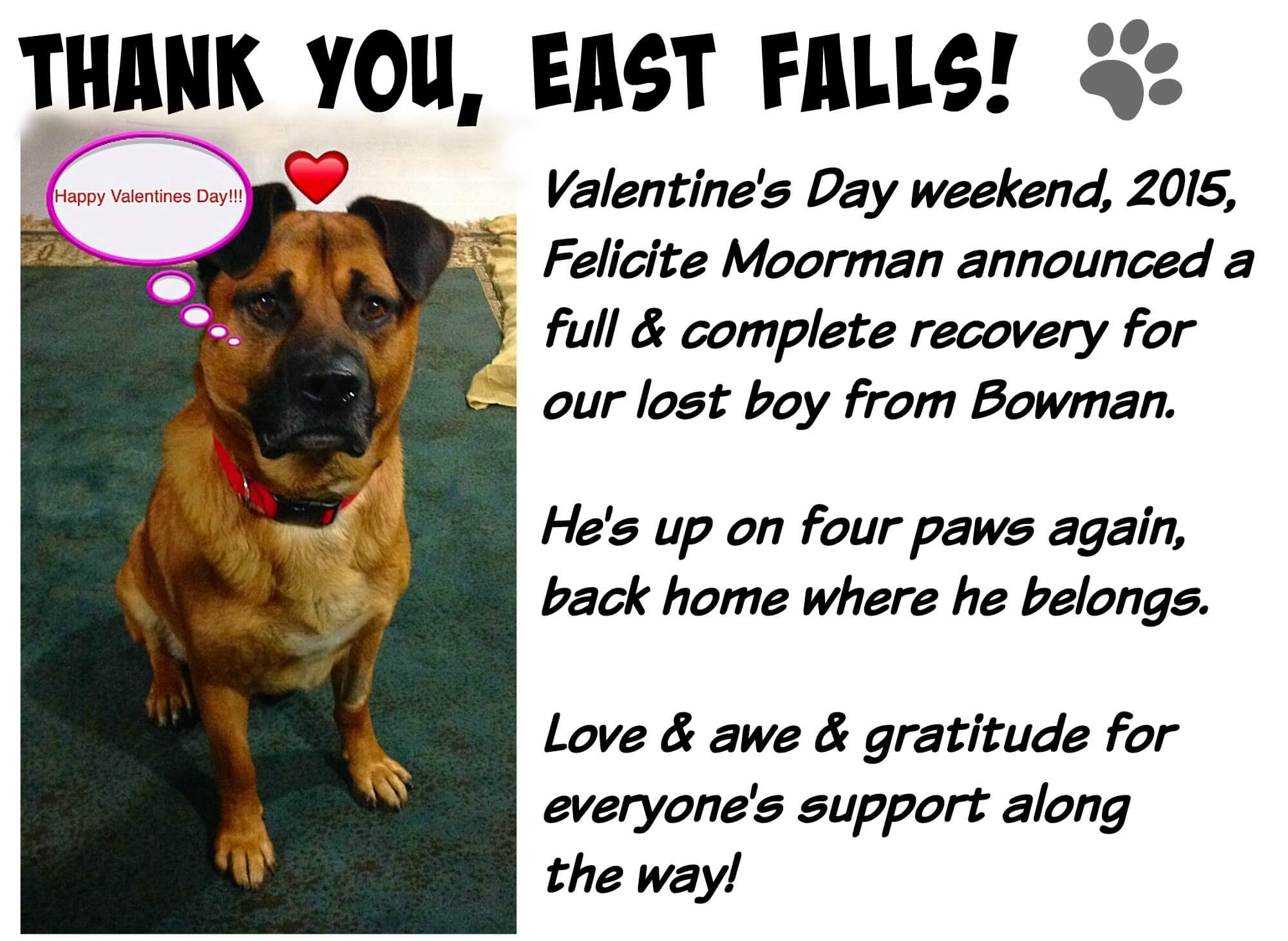 East Falls Local Lucky valentines day pic all better now text