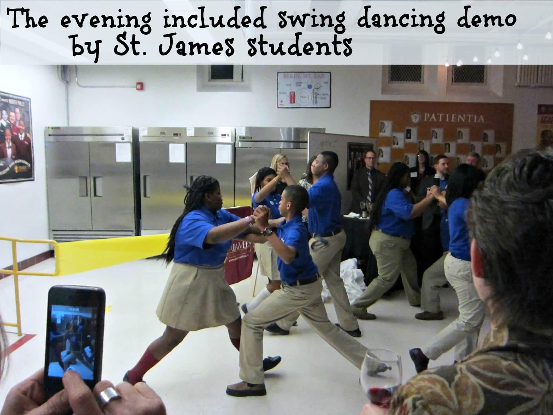 East Falls Local St James Neighborhood Kitchen 2-11 swing dancing kids text