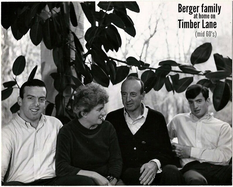 East Falls Local berger family at timber lane text
