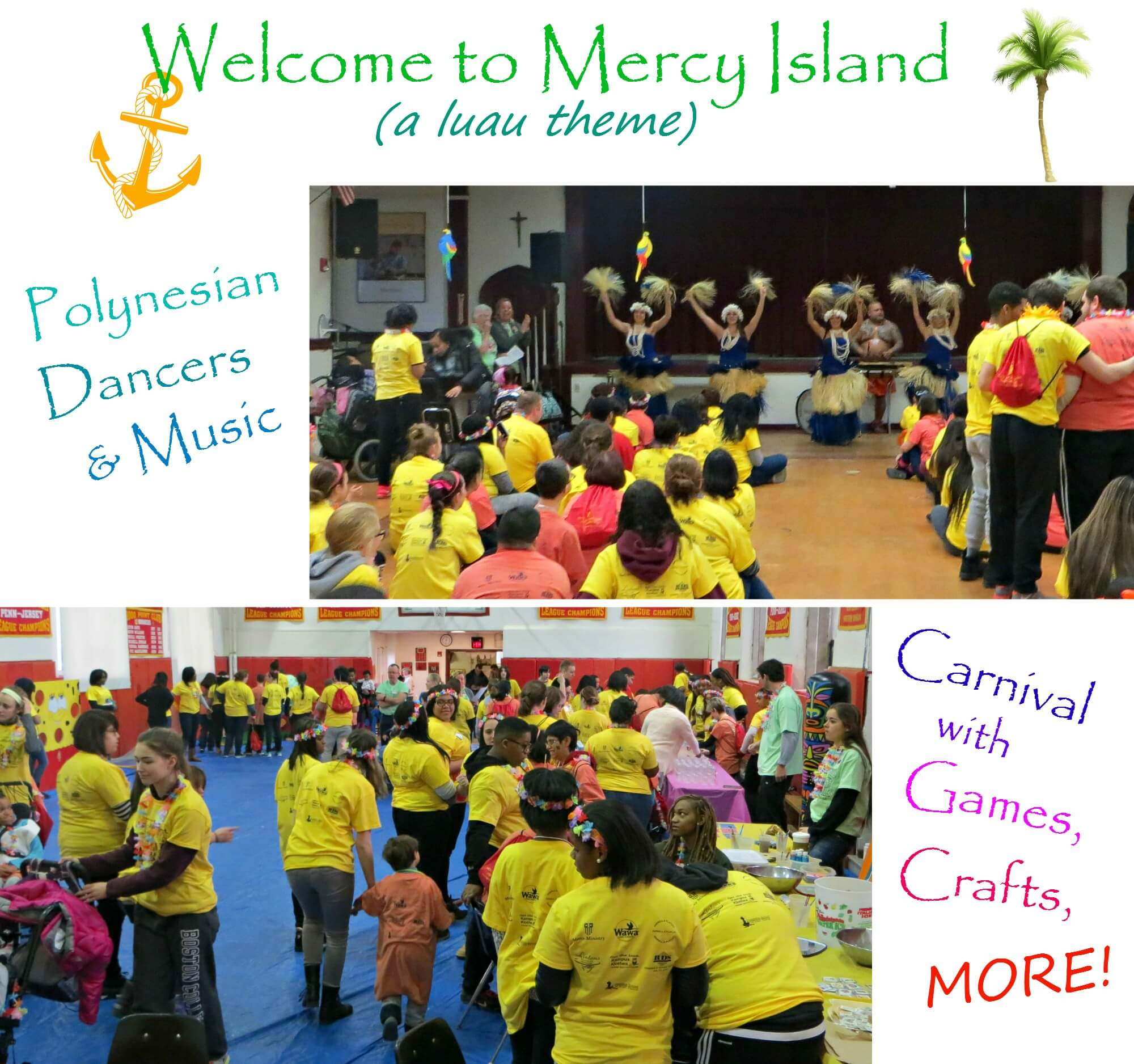 East Falls Local -- Welcome to Mercy Island collage text