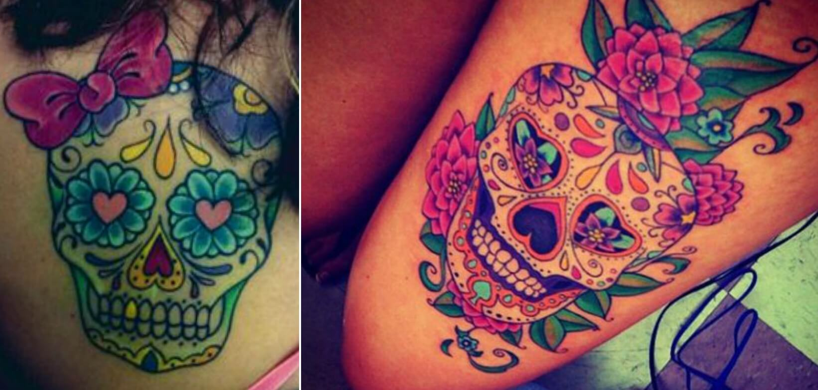 EastFallsLocal sugar skull ideas COLLAGE