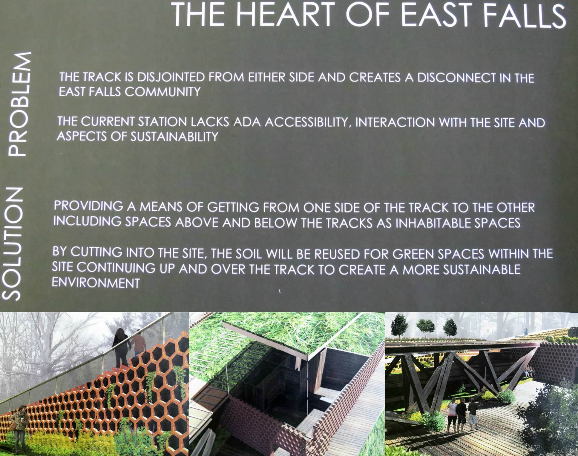 EastFallsLocal LEVLES text with 3 artist renderings
