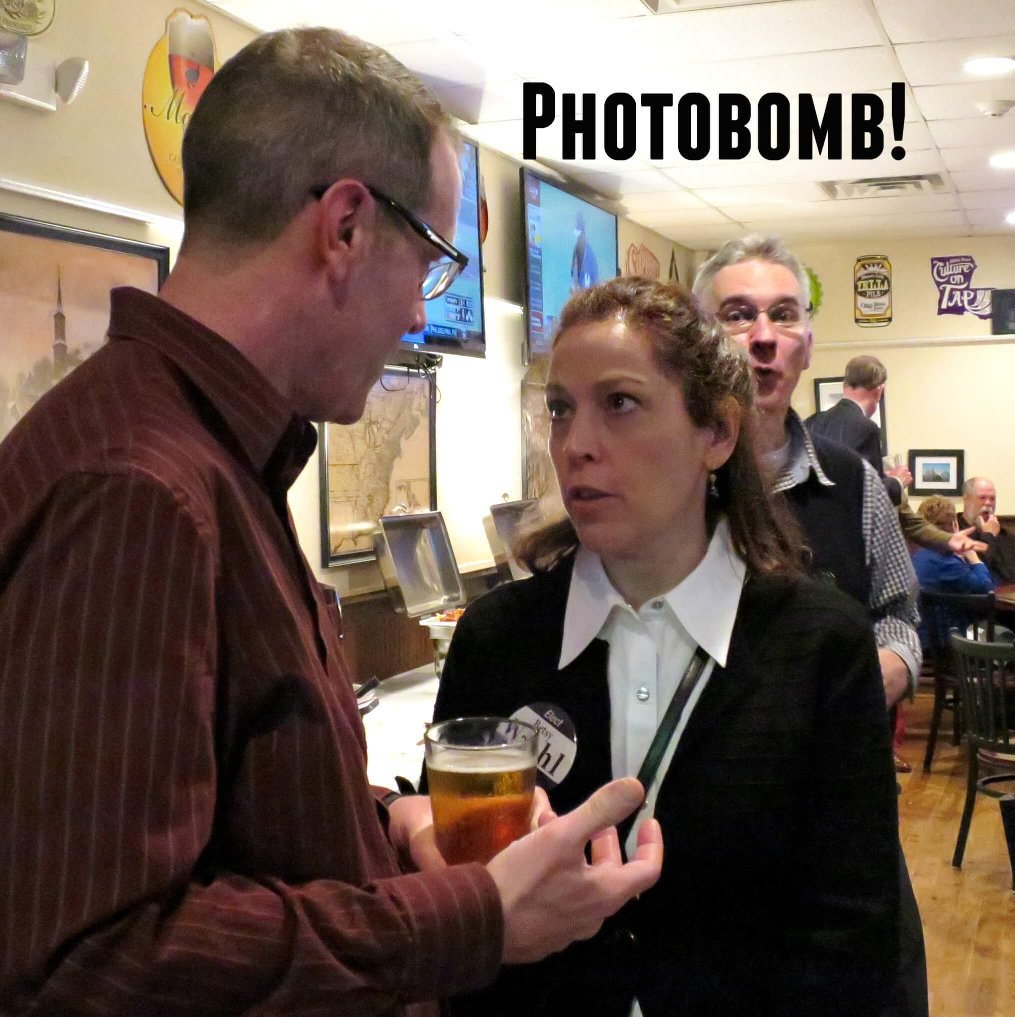 EastFallsLocal crop Steve and betsy chris photobomb