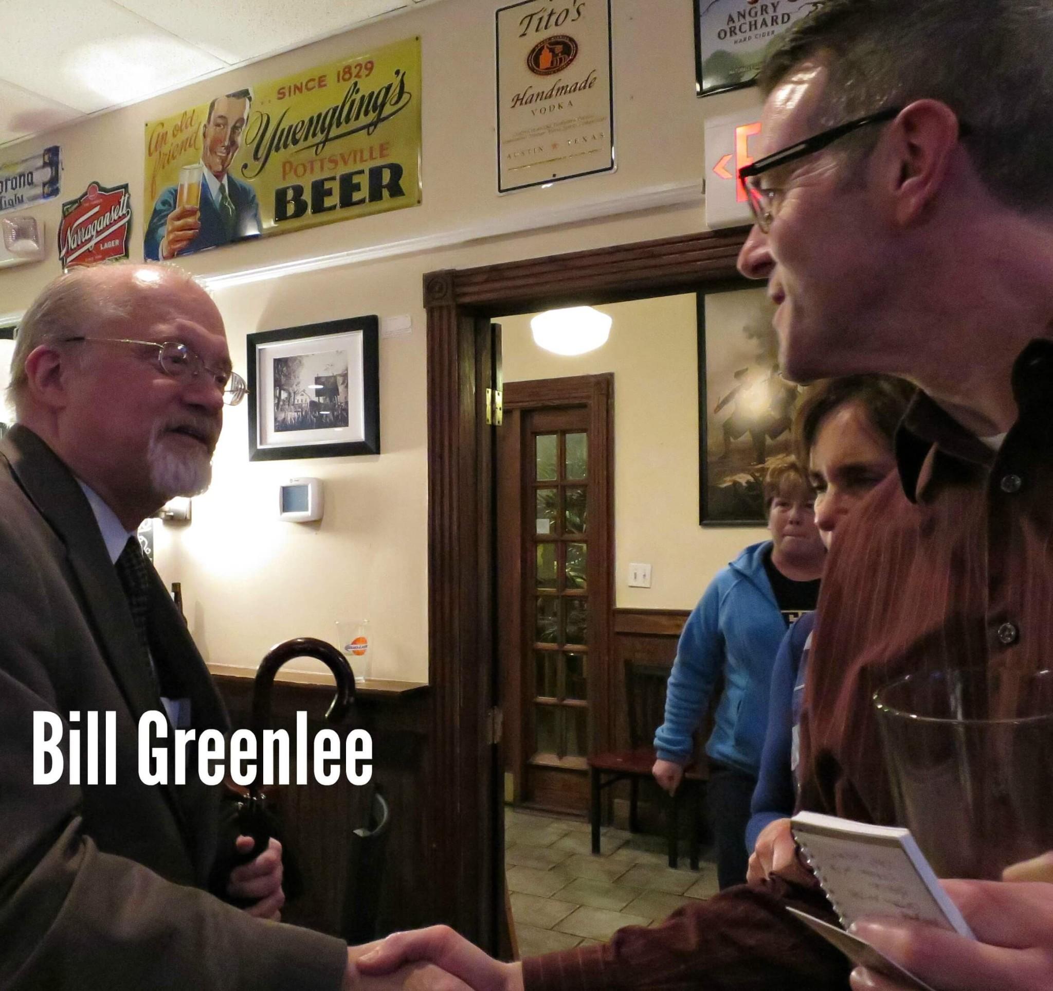 EastFallsLocal steve shakes hands Bill Greenlee