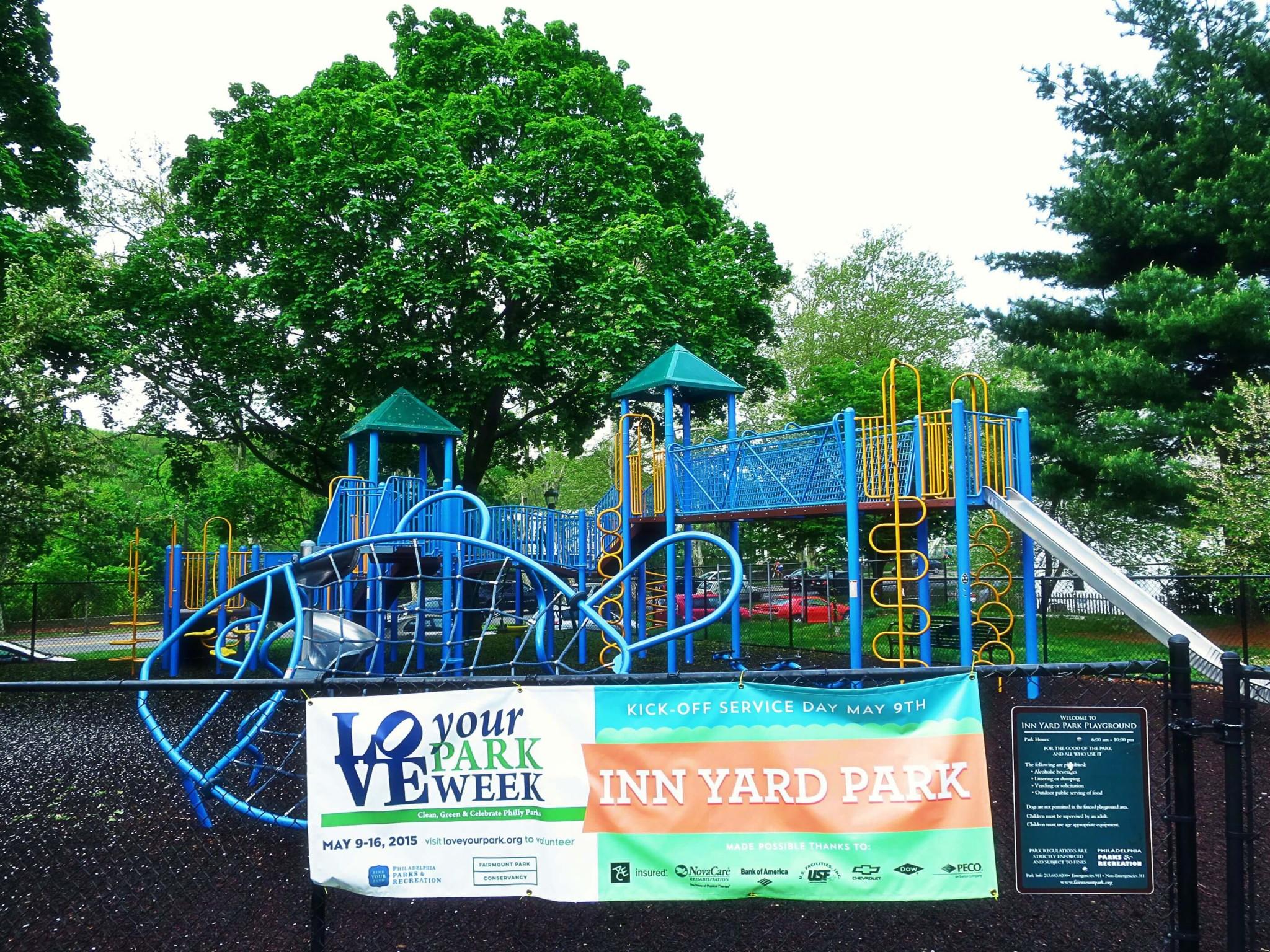 Eastfallslocal 5-6 love your park sign Inn Yard Park