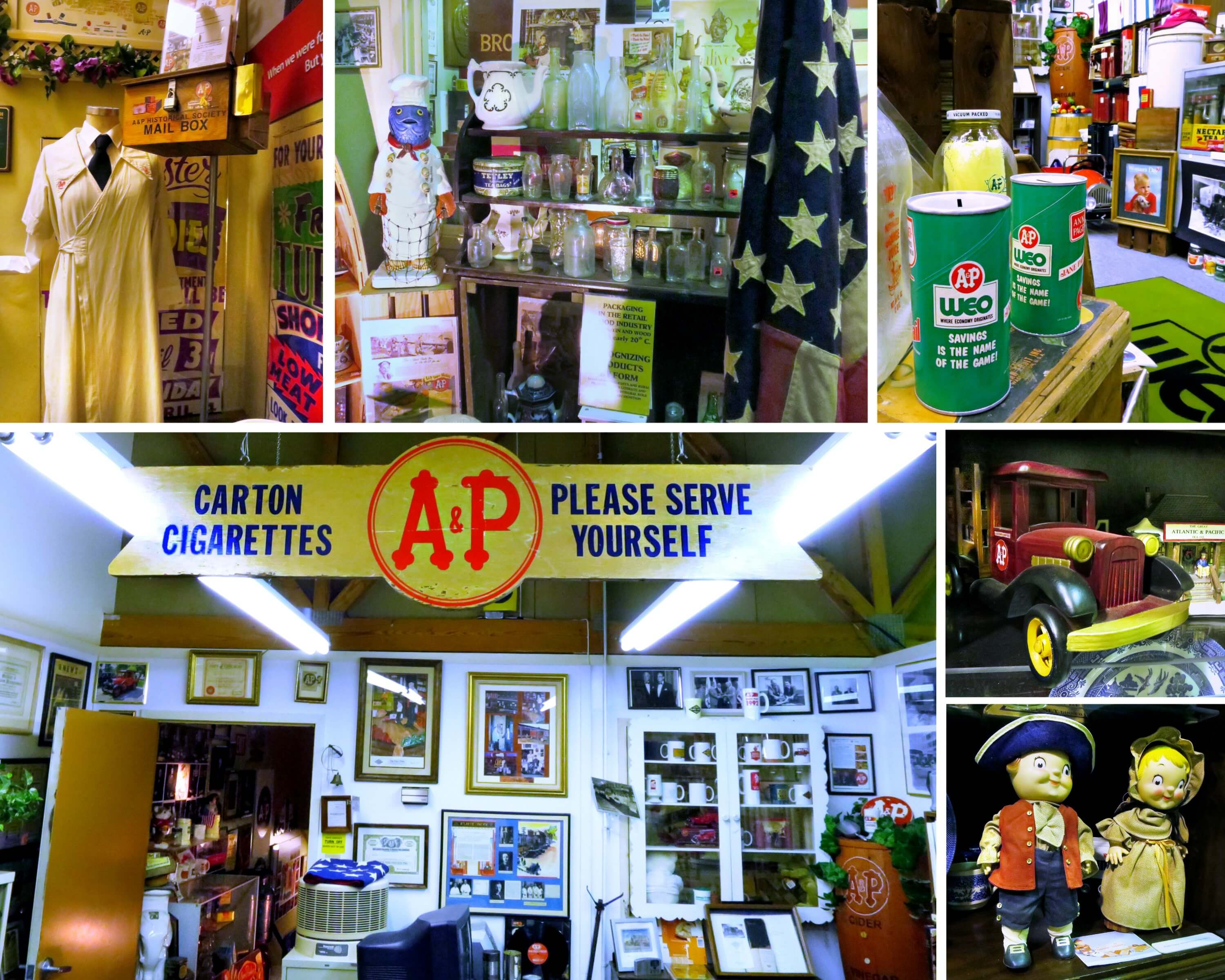 EastFallsLocal supermarket museum collage all kinds of stuff including Carton Serve Yourself kids not music