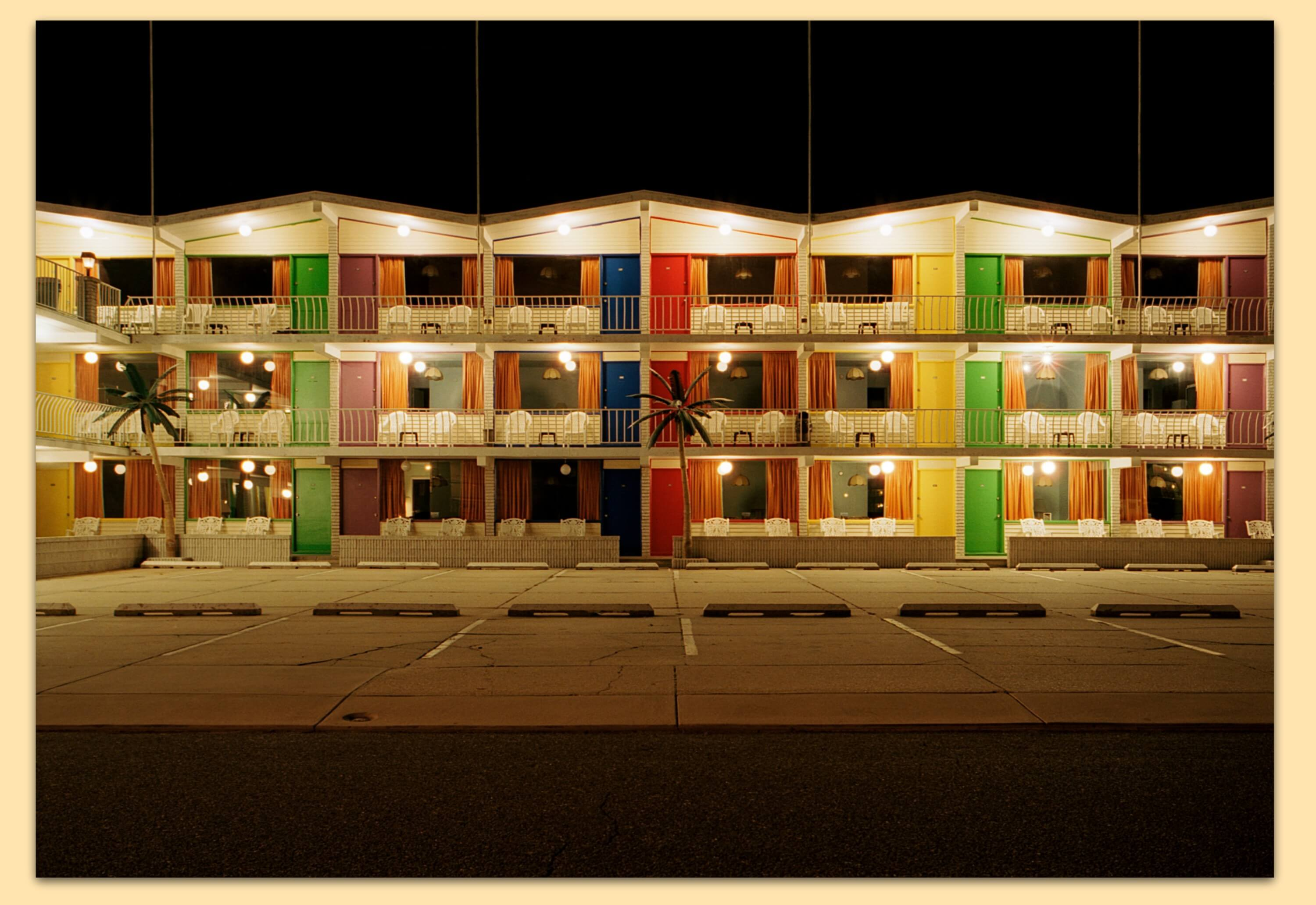 Eastfallslocal 16 hotel pana colorful at night overlay