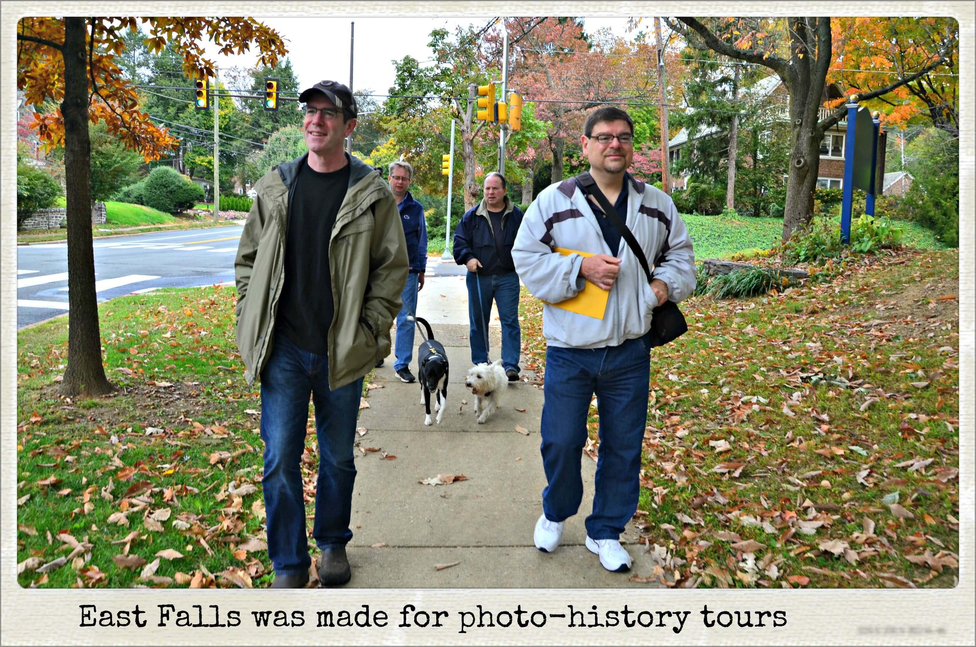EastFallsLocal 10-25 PhotoTour Joe Steve Brian David px txt