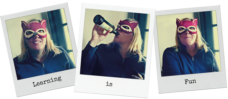 EastFallsLocal denise taproom collage polaroid fox mask txt
