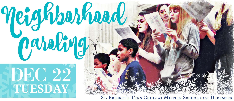 Eastfallslocal neighborhood caroling Dec 22nd