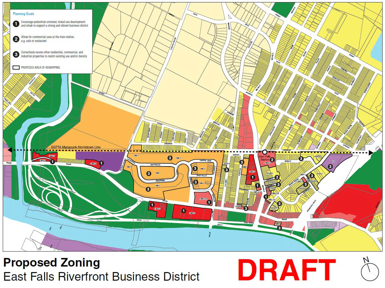 EastFallsForward Proposed zoning map