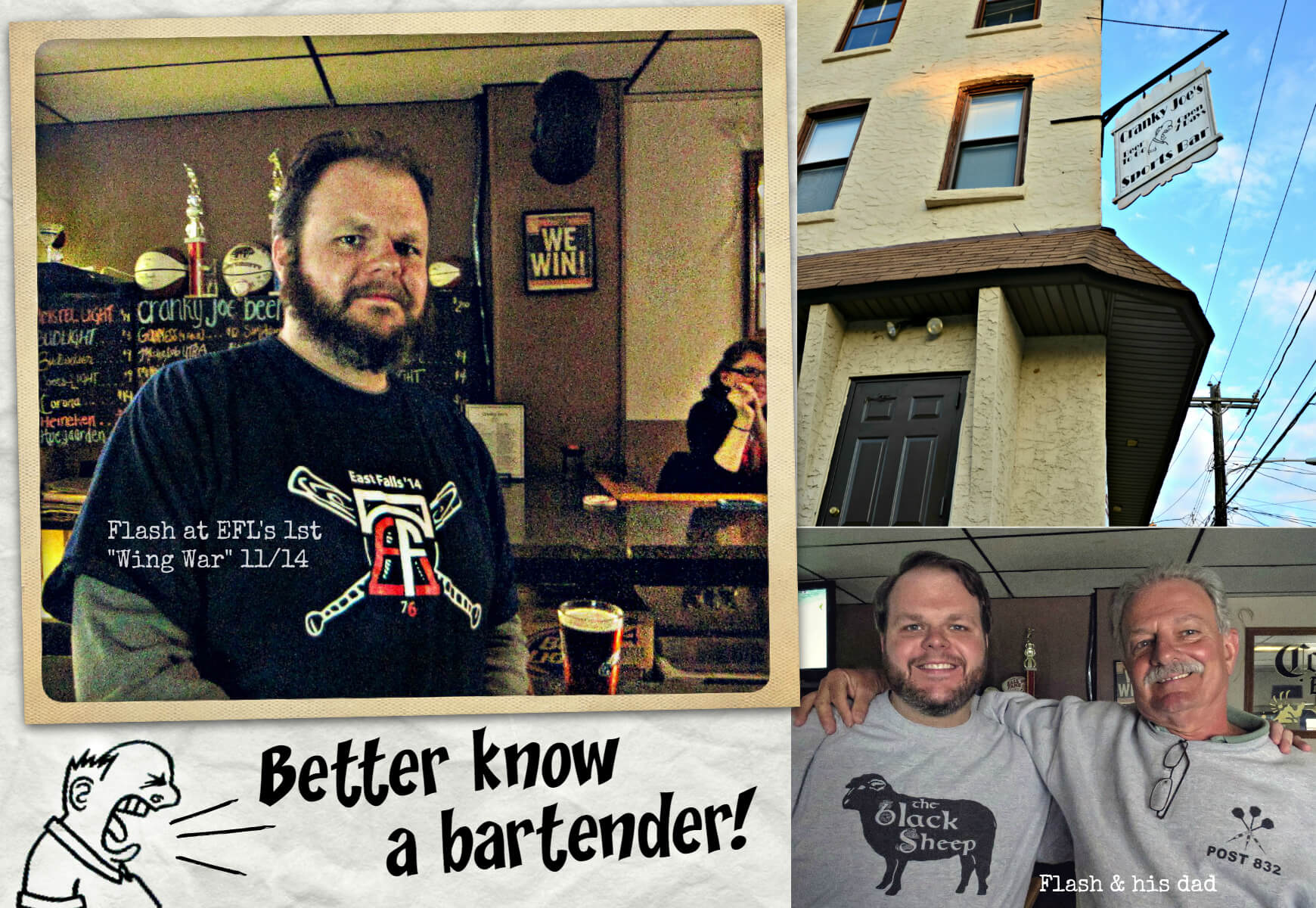 EastFallsLocal collage Better Know a Bartender text