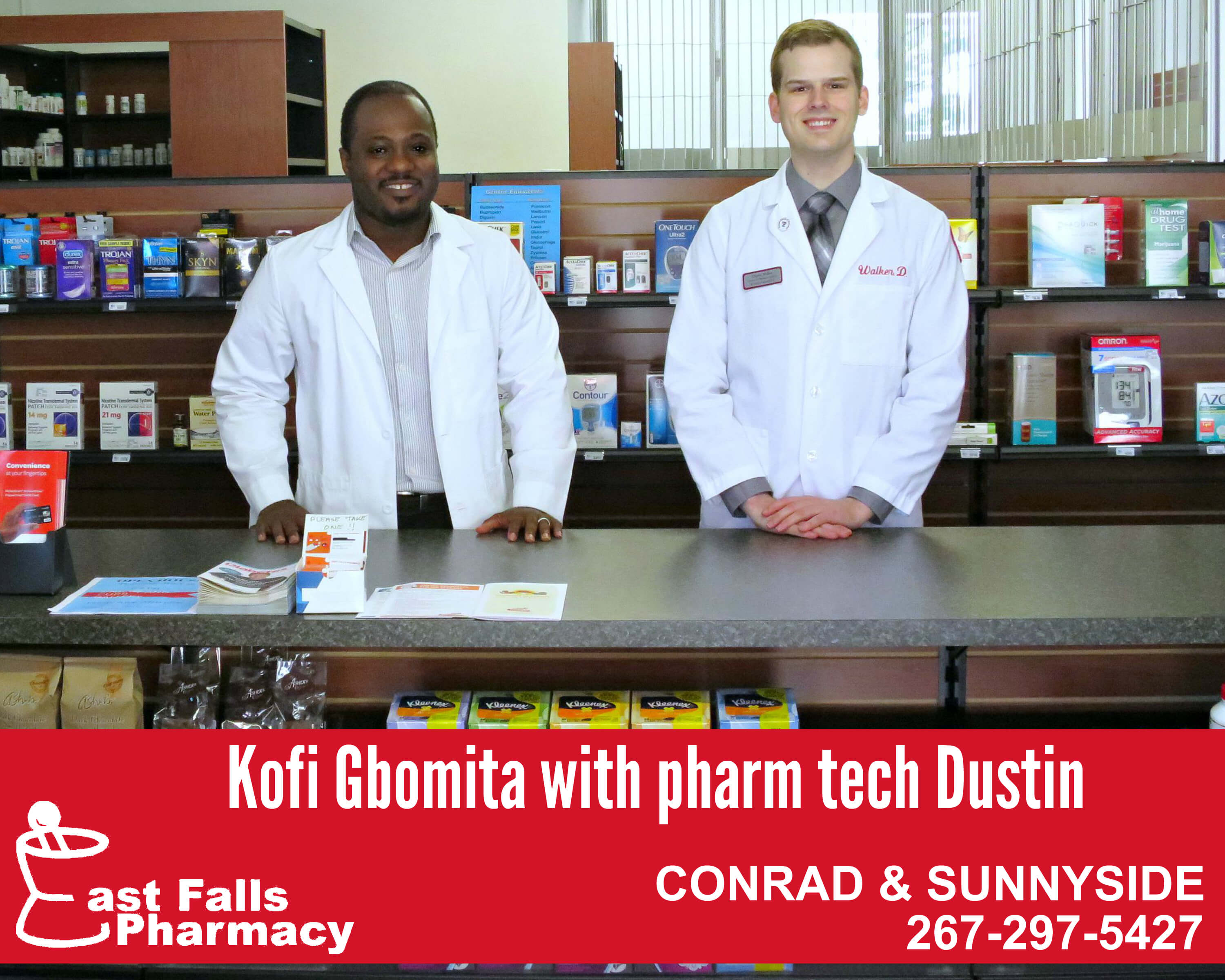 EastFallsLocal pharm collage Kofi Dustin